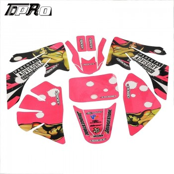 TDPRO Pink Decal Graphics Sticker Kit for CRF50 PIT PRO Dirt Bike 50cc 70cc 110cc 125c