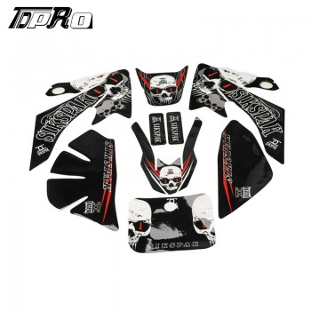 TDPRO CRF50 Decal Graphics Sticker Kit fr CRF 50 Dirt Bike 50cc 70cc 110cc 125c Atomik
