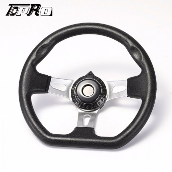 "TDPRO 10.6"" Steering Wheel w/ Cap for Go Kart ASW Carter Hammerhead Trailmaster Parts"