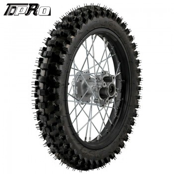 "TDPRO 16"" 90/100-16 Iron Rear Wheel Rim Knobby Tyres Tire PIT PRO Trail Dirt Bike"