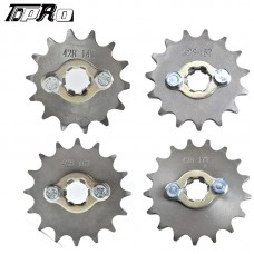 TDPRO 428 Chain 14T 15T 16T 17T 17MM Motorcycle Front Engine Sprocket For 50cc to 125cc Dirt Bike ATV Go Kart Quad Pitbike Buggy