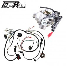 GY6 125cc 150CC Wiring Loom Harness Assembly + Carburetor fr ATV Go Kart Scooter