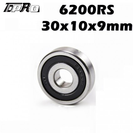 TDPRO 10mm x 30mm x 9mm Deep Groove Roller-Skating Ball Wheel Bearings 6200RS