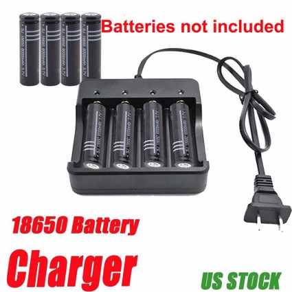 Universal 4 Slot Battery Charger Adapter for 18650 16340 14500 10440 Battery