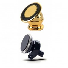 2X Universal Magnetic 360º Rotating Car Phone Holder Mount Stand For iPhone HTC