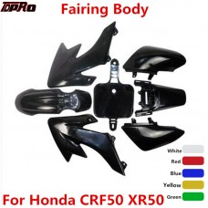 TDPRO Plastic Fender Body Fairing Full Set Motorcycle Body Cover For 50-160cc Honda XR50 CRF50 SDG SSR Baja Dirt Bike Pitbike