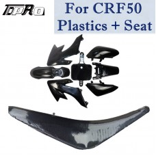 8pcs/Set Plastics Fairing & Gripper Seat CRF50 Thumpstar PIT Bike SSR 110cc Atomik Black