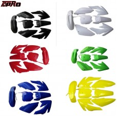 TDPRO For Honda CRF70 70CC Dirt Bike Body Plastic Fender Motorcycle Guard Fairing Body Cover Kits Fenders Panels Mudguard Covers