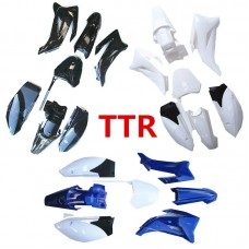 TDPRO For YAMAHA TTR110 TTR 110 Enduro Mudguards Plastics Fender Full Set Covering Part Fairing Design
