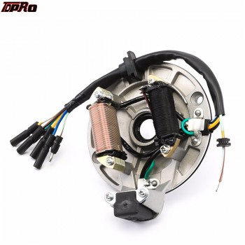 TDPRO 2Pole Ignition Magneto Stator Bobine Coil Plate Racing Rotor Fit 110cc 120cc 125cc 140cc Lifan Motorcycle Pitbike