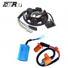 Racing CDI + Ignition Coil + Magneto Stator 6 coil FIT GY6 125 150cc Scooter ATV