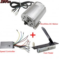 TDPRO 1800W 48V Brushless Electric Motor Speed Controller Throttle Foot Pedal For ATV Go Kart Buggy Bike Scooter Pitbike