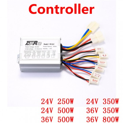 TDPRO 24V/36V 350W/500W/800W Electric Bicycle Brush Motor Controller Speed For ATV Go Kart Quad Buggy Motorbike Scooter Pitbike