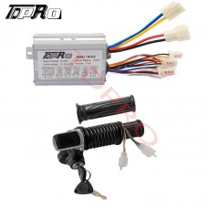 36V 350W Speed Controller Throttle Grips Ignition Key Switch E Bike Scooter ATV