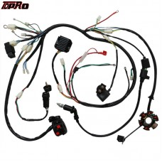 TDPRO GY6 150CC Stater Coil Ignition Switch Electrics Wiring Harness For 150CC 125CC Pitbike Buggy Scooter