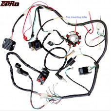 TDPRO Motorcycle Full Complete Electrics Wiring Harness Loom Ignition Coil CDI Switch Gas Scooter Moped For 125cc~250cc Pitbike