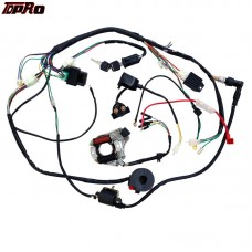 TDPRO High Quality Complete Electrics All Wiring Harness Solenoid Coil Wire Loom Assembly For QUAD / ATV Parts Replacement Work