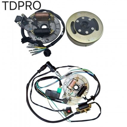 Wiring Harness CDI Stator Magneto Flywheel Rotor for 110cc 125cc Pit Dirt Bike
