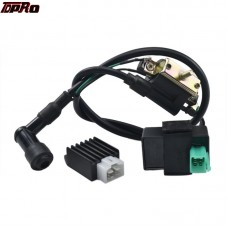 TDPRO Pitbike Moped Ignition Coil 5Pin CDI Rectifier Regulator For 50cc 90cc 110cc 125cc 150cc 250cc ATV Go Kart Quad Buggy Bike