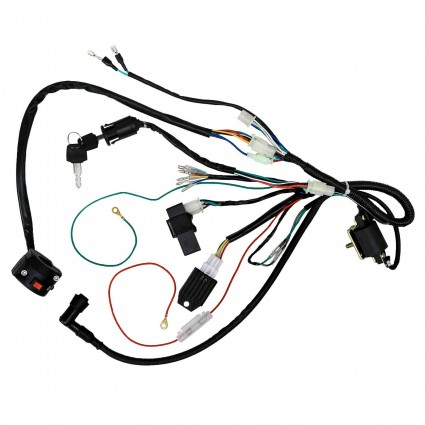 Wiring Harness CDI Coil with Light Wire for 50cc-140cc Kick Start Dirt Pit Bike