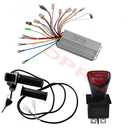 36v 800w Brushless Electric Motor Speed Controller Throttle Grip Reverse Switch
