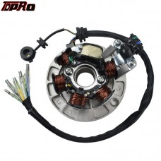 TDPRO 6 Coil Magnto Stator Motorcycle 6 Poles Coils For Lifan 140cc Engine ATV Quad Motocross Pit Dirt Motor Bike Package Includ