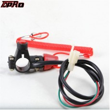 Universal ATV Motorcycle Tether Line Kill Switch With Safety Lanyard Pitbike Boat Outboard Engine Motor Kill Stop Switch
