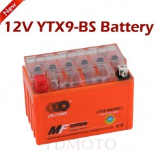 TDPRO 12v 9A YTX9-BS Motorcycle GEL Battery For Honda CH150 lite Hyosung NSC-250 SYM E-TON Beamer Matrix