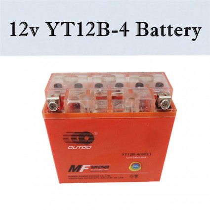 TDPRO 12v 10AH Motorcycle Battery YT12B-BS YT12B-4 CT12B-4 GT12B-4 Sealed Battery Sportbikes Cruisers