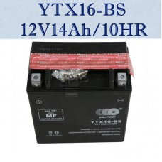 TDPRO 12V14Ah/10HR UTX16-BS Motorcycle Battery For Suzuki 750cc LT-A750X King Quad Buggy Bike 2008 LTX16-BS