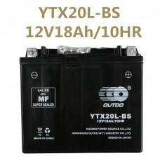 TDPRO 12V18Ah/10HR YTX20L-BS Motorcycle Battery for Yamaha YFM40FW Kodiak/Automatic YFV600FW Grizzly ATV