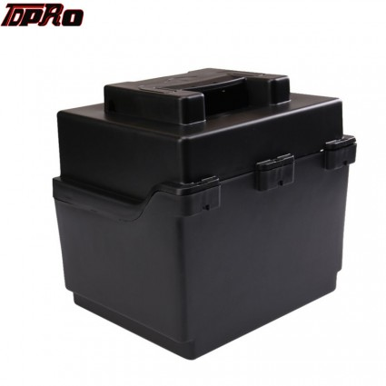 TDPRO Motorcycle Battery Box Holder for 2x Go Kart Scooter 12v Batteries Battery 150mmx100mmx95mm
