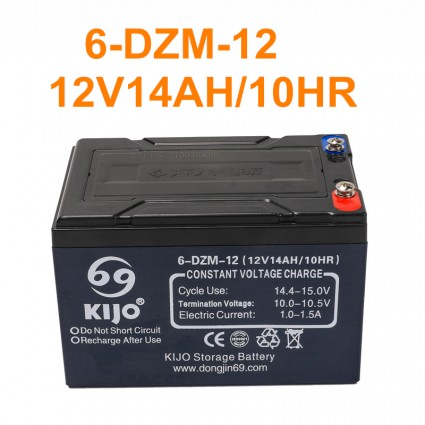 TDPRO 6-DZM-12 12V 14Ah Battery for Motorcycle Electric tricycle Trike Xtreme Scooter
