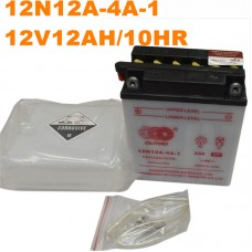 TDPRO 12N12A-4A-1 YB12A-A YTX14AH-BS Battery For Motorcycle Honda CX650C Custom VF700C Magna VF700F