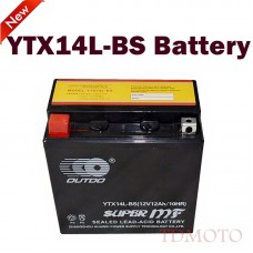 TDPRO 12V 12AH YTX14L-BS Motorcycle Battery for Harley Davidson 883 1200 XL XLH Sportster