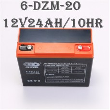 TDPRO 12V 24AH Rechargeable Sealed Lead Acid Motorcycle Battery 6DZM20 for Mobility Scooter