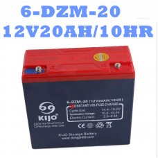 TDPRO 12V 20Ah Battery 6-DZM-20 6DZM20 Scooter Bike Sealed Battery Golf Cart Go Kart