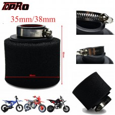 TDPRO 35MM 38mm Black New Foam Air Filter Cleaner Pod For Honda 50cc 70cc 90cc 110cc 125cc Yamaha Motorcycle ATV Quad Pit Bikes