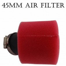 TDPRO New 45mm Red Motorcycle Air Filter Double Foam Cleaner Pod For 90cc 110cc 140cc 150cc Pit Dirt Bike ATV Quad Scooter