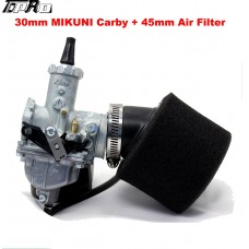 30mm Mikuni Carburetor VM26 150 160 200 250 cc Engine Pit Dirt Bike ATV + Air Fi