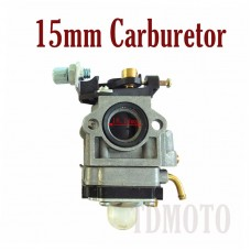 TDPRO 15mm Carburetor 49cc for Mini Pocket Scooter Rocket Bikes ATV Mini Chopper