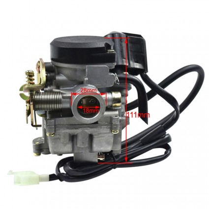 18mm CVK PD18J Carb Carburetor For  4 stroke GY6 50CC SCOOTERS APOLLO, BA