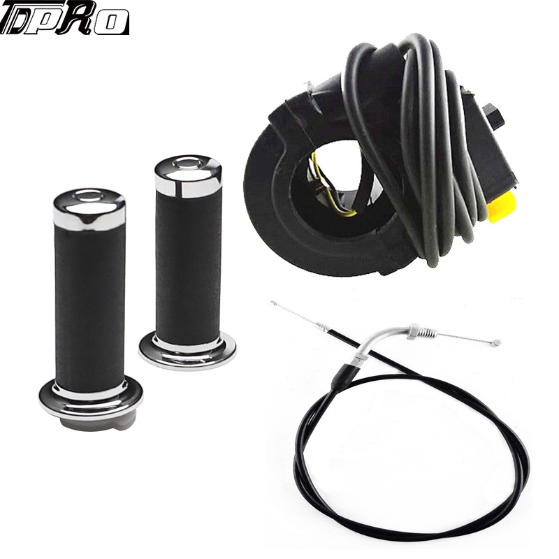 Hand Grips Throttle Cable Kill Switch for 49cc-80cc Motorized Bicycle Push Bike