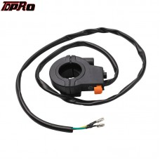 TDPRO Motorcycle Button Throttle Cable Engine Stop Kill Switch For 80cc 70cc 66cc 50cc ATV Scooter Motorized Bicycle Dirt Bike