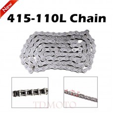 TDPRO 415 Chain 110 L for 2-Stroke 49cc 60cc 66cc 80cc Motorized bicycle Push Bike
