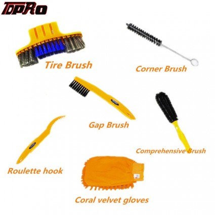 TDPRO Bike Chain Cleaning Brush Cycling Motorcycle Bicycle Gear Cleaner Tool Scrubber