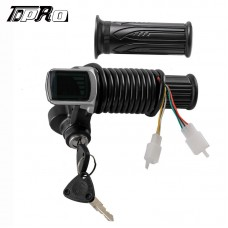 24V Twist Throttle Grips w/ Electric Key Lock Power indicator E Bike Scooter