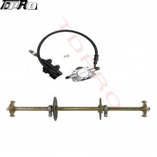 "32"" Go Kart ATV Live Rear Axle Kit + Brake Assembly +Sprocket Hub Drift Trike"