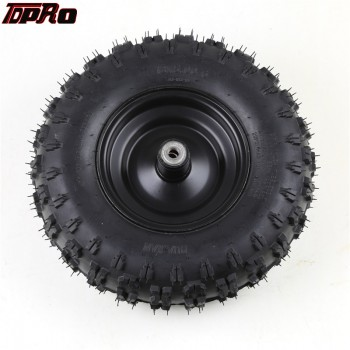 "TDPRO 13x5-6 13""x5.00""-6"" Front Tubeless Knobby Tire Tyre 13x5.00-6 Wheel& Rim Go Kart"