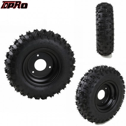 TDPRO 4.10-6 Wheel Tyre Tire with Rim for Go Kart ATV Scooter Quad Buggy Dirt Bike